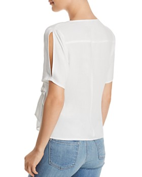 Re:Named - Margot Knot-Front Wrap Top
