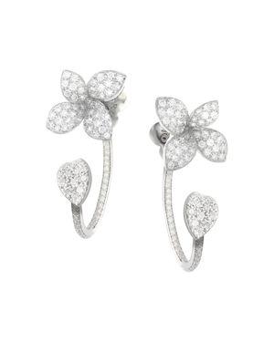 PASQUALE BRUNI 18K WHITE GOLD GIARDINI SEGRETI DIAMOND EAR JACKETS