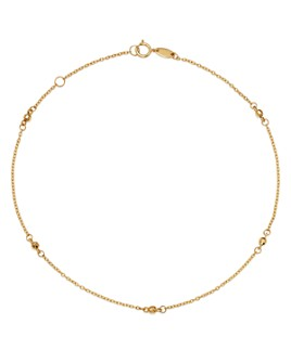 Moon & Meadow - Beaded Ankle Bracelet in 14K Yellow Gold - 100% Exclusive