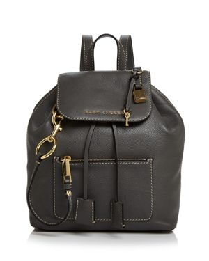 The Bold Grind Leather Backpack - Grey, Forged Iron/Gold