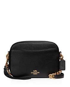 COACH - Polished Pebble Leather Camera Bag