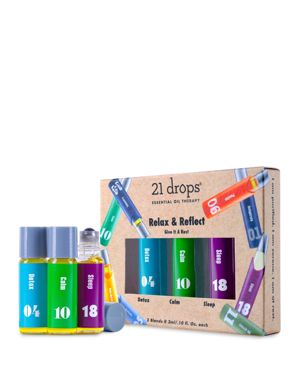 21 DROPS RELAX & REFLECT ESSENTIAL OIL TRIO GIFT SET