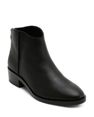 DOLCE VITA Women'S Tucker Leather Booties in Black Leather