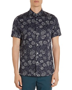 Ted Baker - Teval Dotted Floral Regular Fit Button-Down Shirt