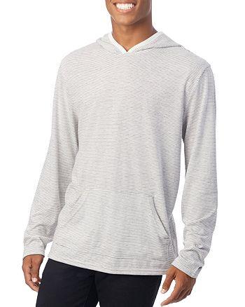 ALTERNATIVE - Marathon Stripe-Print Hooded Pullover