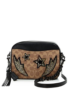 COACH - Rainbow Stud & Crystal Embellished Signature Coated Canvas Camera Bag - 100% Exclusive