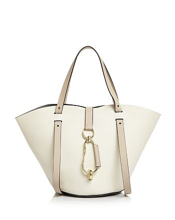 ZAC Zac Posen - Belay Small Color-Block Leather Tote