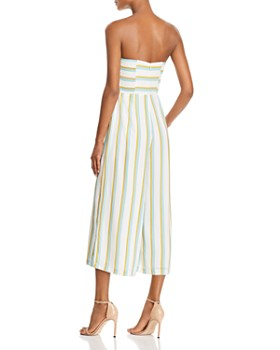 Amanda Uprichard - Lincoln Strapless Wide-Leg Jumpsuit