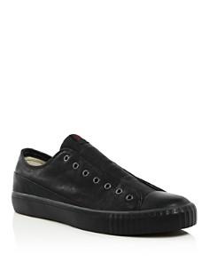 John Varvatos Bootleg - Bootleg Men's Laceless Low-Top Leather Sneakers