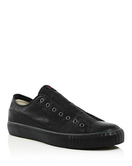 John Varvatos Bootleg - Bootleg Men's Laceless Low-Top Leather Sneakers