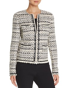 Lafayette 148 New York - Benji Tweed Zip-Front Jacket
