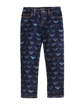 2bc7ff3734c Armani - Girls  Slim-Fit Logo-Print Denim - Big Kid ...