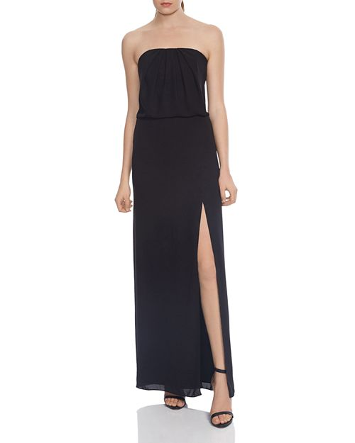 HALSTON HERITAGE Strapless Draped-Back Gown - 100% Exclusive ...