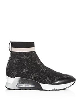 Ash - Women's Lulla Star Print Knit Platform Sneakers