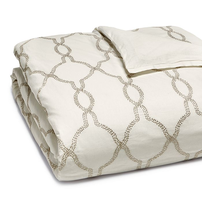 Hudson Park Collection - Seed Stitch Trellis Duvet Cover, King - 100% Exclusive