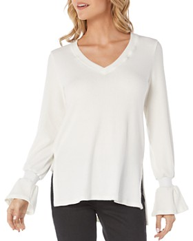 Michael Stars - Ribbed Bell-Sleeve Top