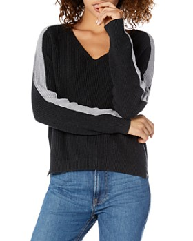 Michael Stars - V-Neck Color-Block Sweater