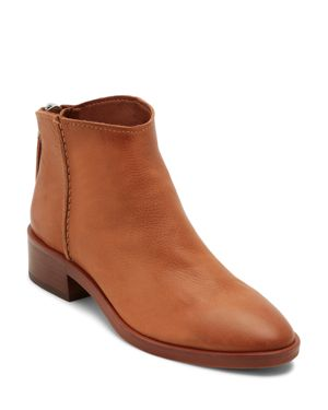 DOLCE VITA Women'S Tucker Leather Booties in Brown Leather