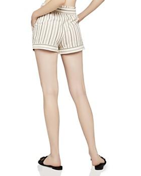 BCBGeneration - Striped Paperbag-Waist Shorts