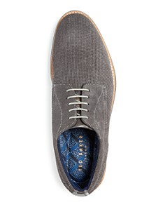 Ted Baker - Men's Lapiin Perforated Suede Plain Toe Oxfords