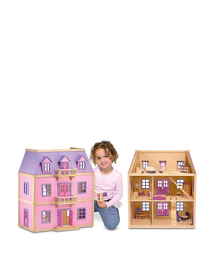 Multi Level Wooden Dollhouse Ages 3