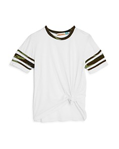 Vintage Havana Girls' Camo-Trimmed Varsity Tee - Big Kid - Bloomingdale's_0