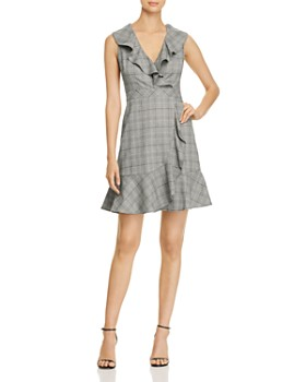 kate spade new york - Mod Ruffled Plaid Mini Dress