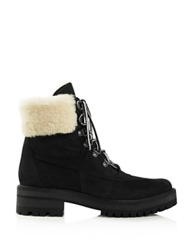 Timberland - Women s Courmayeur Valley Round Toe Suede   Shearling Boots ... 6fe8a7968