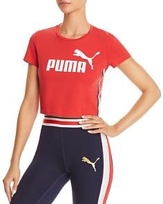 PUMA Cropped Logo Tee - Bloomingdale's_0