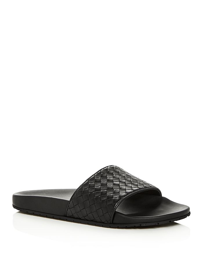 Bottega Veneta - Men's Woven Leather Slide Sandals