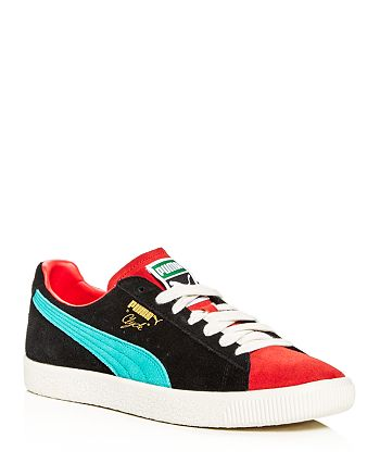 on sale 0b43e 45c01 PUMA Men's Clyde from the Archive Color-Block Suede Lace-Up ...