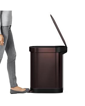 simplehuman - 45-Liter Slim Step Trash Can with Liner Rim