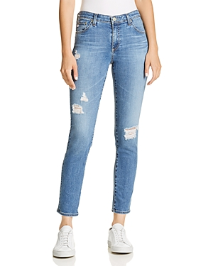Ag Prima Ankle Rip Cigarette Jeans in 17 Years Enduring