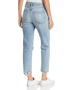 Current/Elliott - The Vintage Cropped Slim Boyfriend Jeans in 2 Year Destroy Rigid Indigo