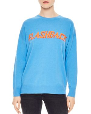 Childhood Flashback Wool & Cashmere Graphic Sweater, Blue