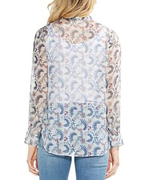 VINCE CAMUTO - Boutique-Floral Ruffle-Trim Blouse