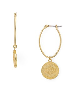 Rebecca Minkoff - Etched Disc Drop Earrings
