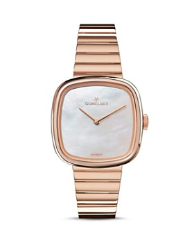 Gomelsky - The Eppie Rose Gold-Tone Watch, 32mm x 32mm