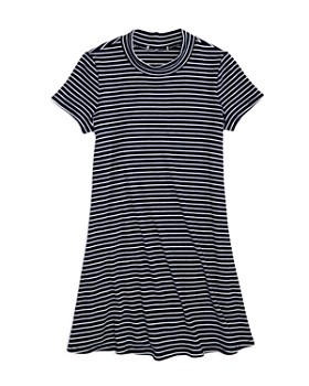 AQUA - Girls' Striped Shirt Dress, Big Kid - 100% Exclusive