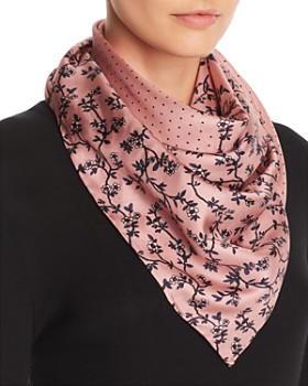 kate spade new york - Prairie Rose Patchwork-Print Silk Scarf
