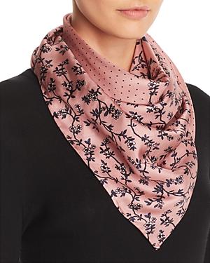 kate spade new york Prairie Rose Patchwork-Print Silk Scarf