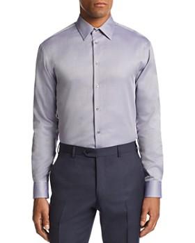 Armani - Micro-Zig Zag-Print Tailored Fit Shirt