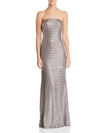 AQUA - Strapless Sequined Gown - 100% Exclusive