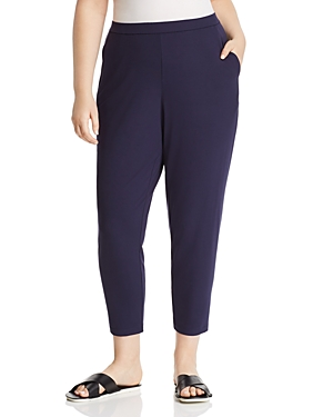 New Eileen Fisher Plus System Slim Slouchy Ankle Pants, Midnight