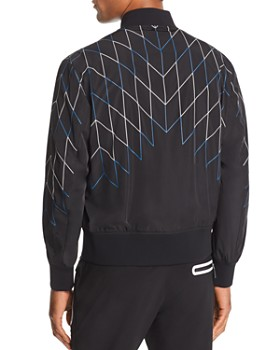 BLACKBARRETT by Neil Barrett - Football Net-Print Bomber Jacket