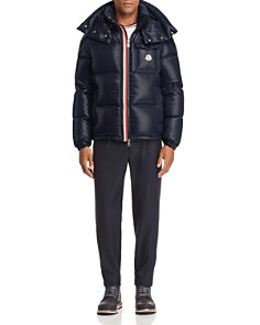 Moncler - Montbeliard Down Jacket, Ringer Tee & Cropped Wool Pants