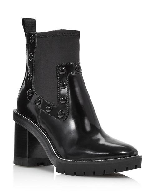 5dd28085d8f best tory burch rain black boots. 12345678910 7c1ac 6ac1d; good tory burch  womens preston round toe studded high heel leather boots 366b7 bbb52