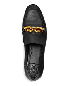 Tory Burch - Women's Jessa Almond-Toe Leather Loafers