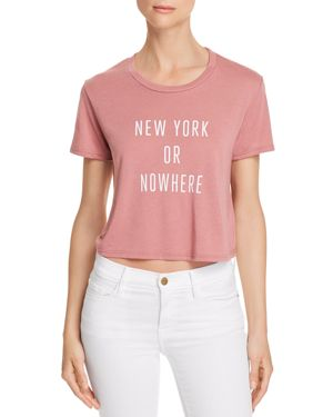 KNOWLITA NEW YORK OR NOWHERE CROPPED TEE - 100% EXCLUSIVE