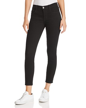 Current/Elliott - The Stiletto Cropped Skinny Jeans in 0 Clean Stretch Black